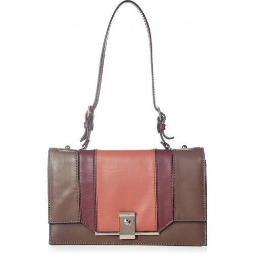 Valentino Salmon/Taupe Small Shoulder Bag