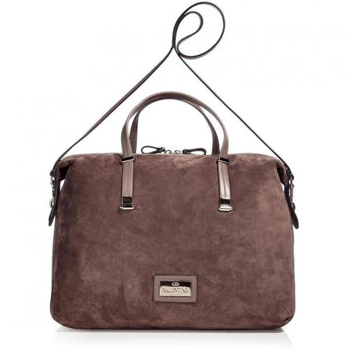 Valentino Taupe Suede Bag with Shoulder Strap