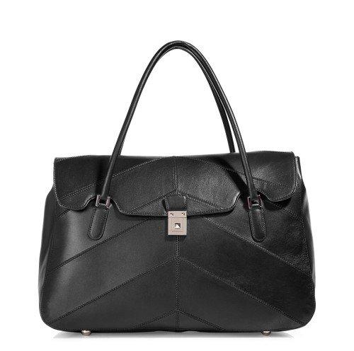 Valentino Schwarze Double Handle Tasche