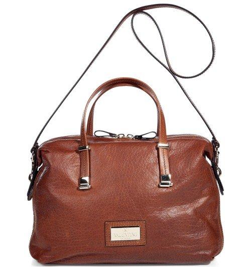 Valentino Cognac Leder Tasche mit Tragegurt