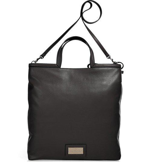 Valentino Schwarze Soft Leder Tasche mit Tragegurt