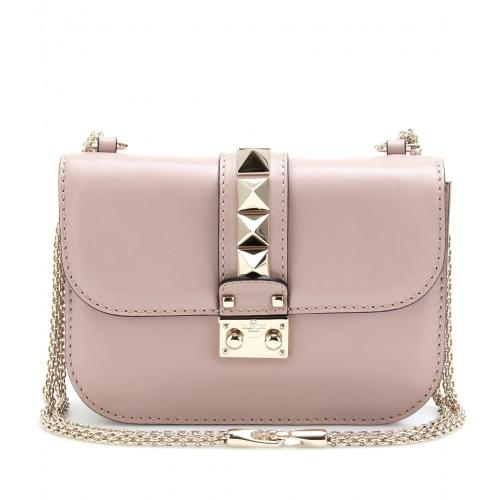 valentino clutch mit nieten rosa designer handtaschen. Black Bedroom Furniture Sets. Home Design Ideas