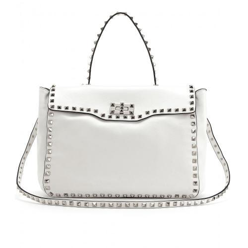 Valentino Rockstud Nieten-Tasche Weiß
