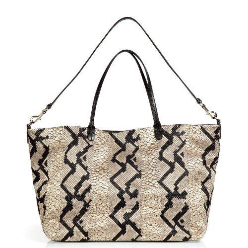 Valentino Schwarze Bi-Fabric Tote Bag