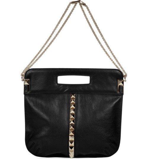 Valentino Schwarze Rock Stud Tasche mit Tragegurt