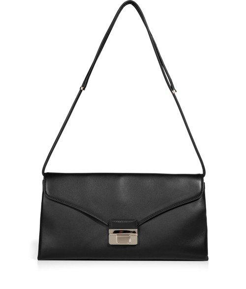 Valentino Schwarze Soft Leder Tasche