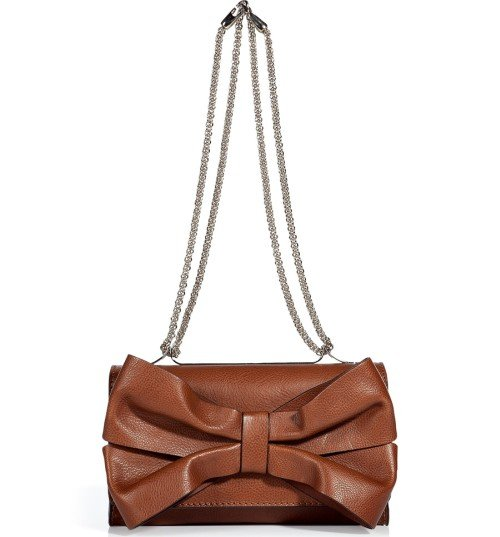 Valentino Toffee Bow Embellished Schultertasche