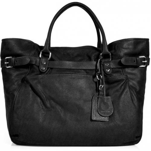 Vanessa Bruno Black Leather Cabas Tote