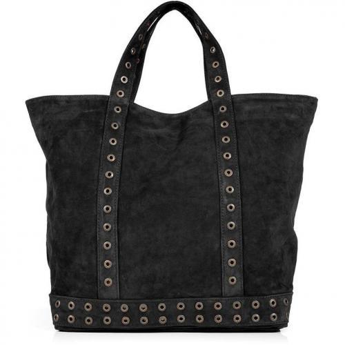 Vanessa Bruno Black Studded Suede Big Cabas Bag