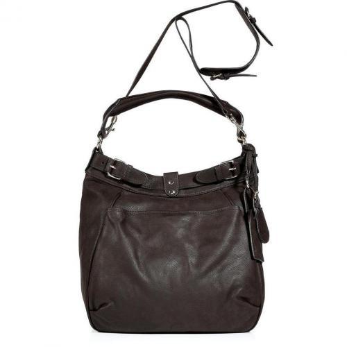 Vanessa Bruno Deep Moccha Hobo Bag with Shoulder Strap