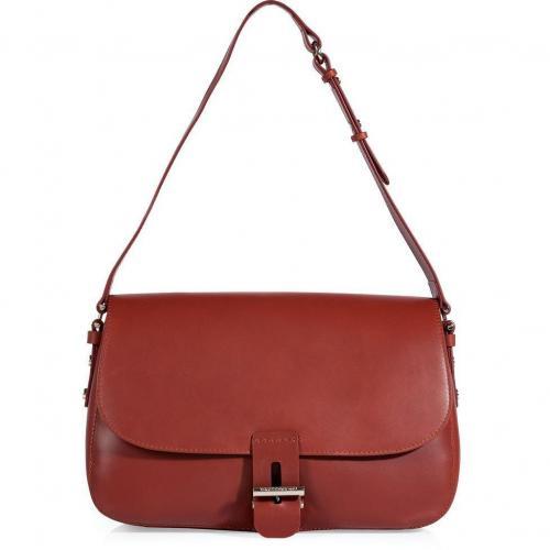 Vanessa Bruno Fox Red Leather Shoulder Bag