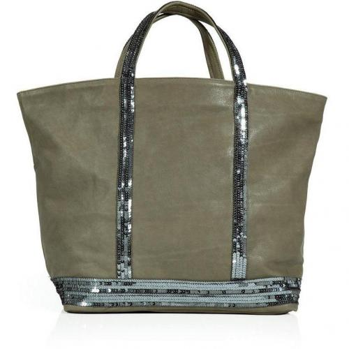 Vanessa Bruno Reed Silver Sequined Tote