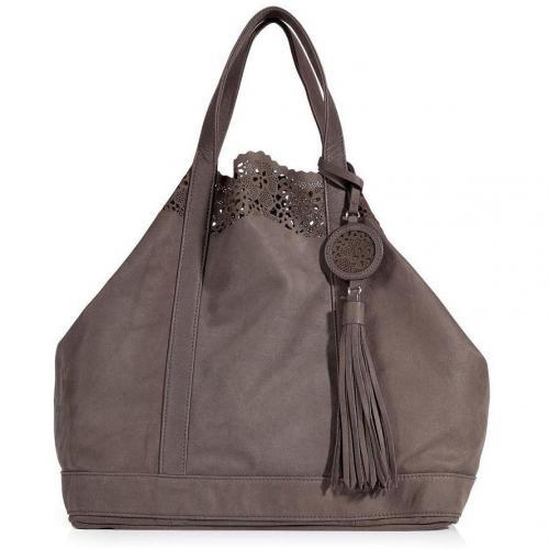 vanessa bruno taupe leather large cabas bag. Black Bedroom Furniture Sets. Home Design Ideas