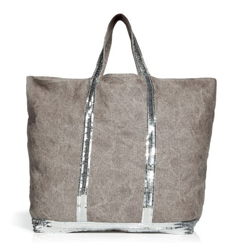 Vanessa Bruno Brown Large Linen Tote Bag