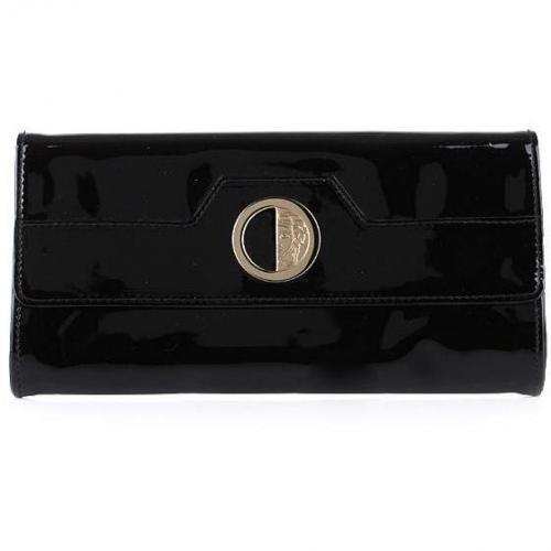 Versace Collection Clutch Vernice Nero/ Oro Chiaro