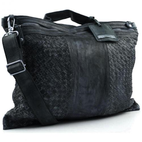 Vive La Difference Pick Up Shopper Leder dunkelgrau
