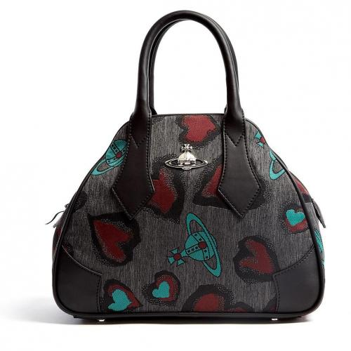 Vivienne Westwood Accessories Secret Heart Jacquard Mini Yasmin Tote