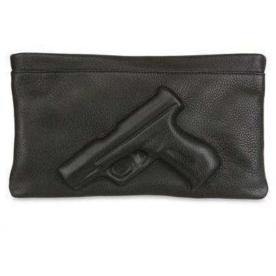 Vlieger&Vandam - Schutzengel Geprägte Leder Clutch Pistolen-Emblem