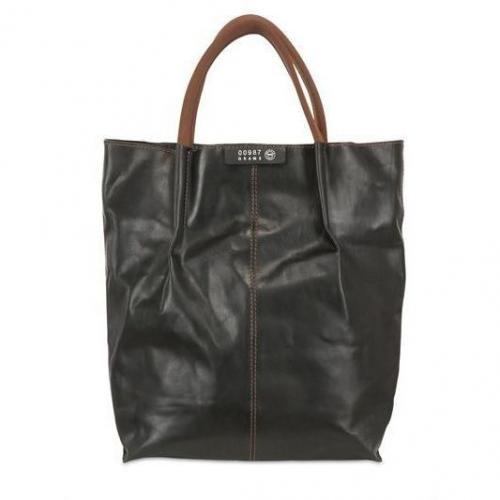 W8 Objects - Maxi Gewachste Pflanzliche Leder Tasche