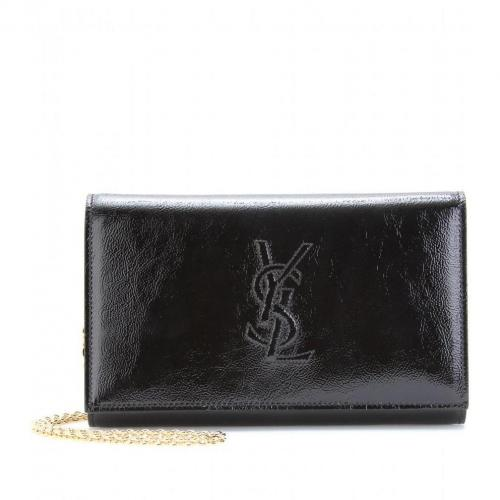 Yves Saint Laurent Belle De Jour Clutch Aus Lackleder