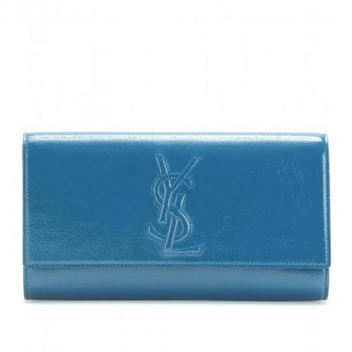 Yves Saint Laurent Belle De Jour Lacklederclutch Blau