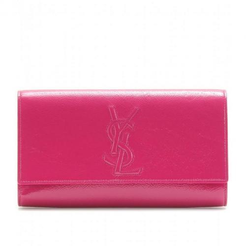 Yves Saint Laurent Belle De Jour Lacklederclutch Pink