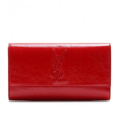 Yves Saint Laurent Belle De Jour Lacklederclutch Rot