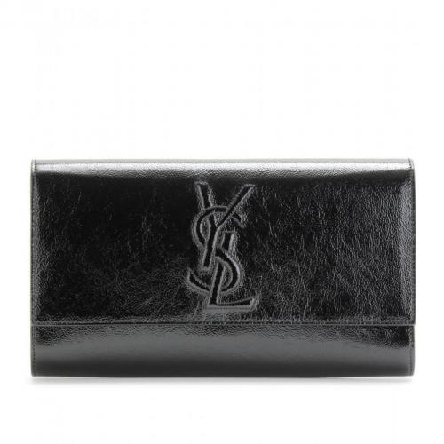 Yves Saint Laurent Belle De Jour Lacklederclutch Schwarz