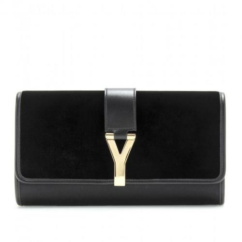 Yves Saint Laurent Chyc Samt- Und Satinclutch