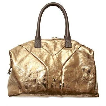 Yves Saint-Laurent - Handtasche Metallik Easy Mittlere Schwarz