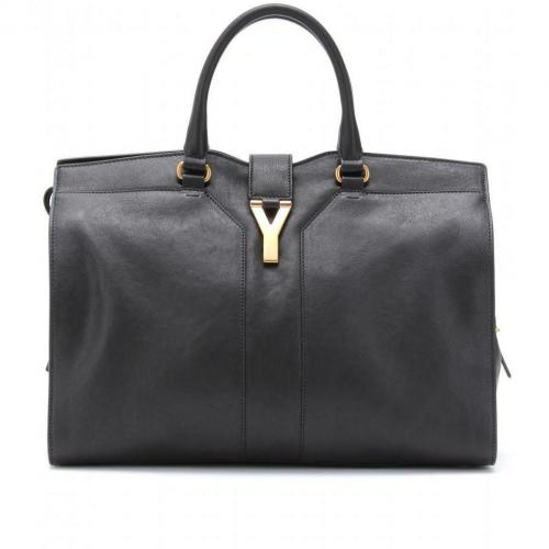 Yves Saint Laurent Large Cabas Chyc East/West Ledertasche Nero