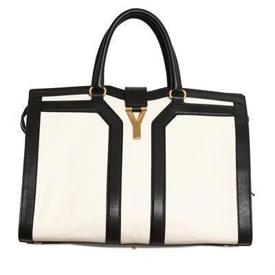 Yves Saint-Laurent - Medium Cabas Chyc Leder Handtasche