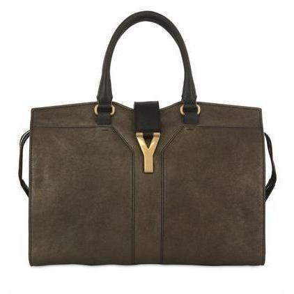 Yves Saint-Laurent - Medium Cabas Chyc Metallic Leder Tasche
