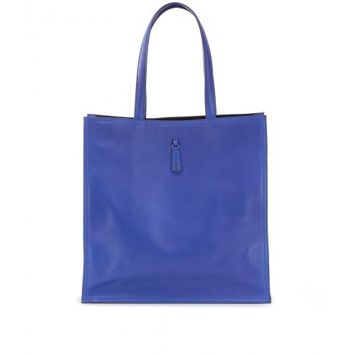 Yves Saint Laurent Leder Shopper Blau/Grün