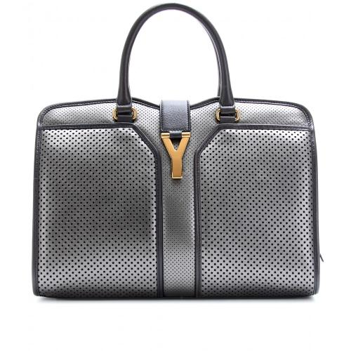 Yves Saint Laurent Chyc East/West Grau/Metallic