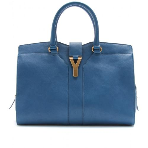 Yves Saint Laurent Small Cabas Chyc East/West Ledertasche Blau