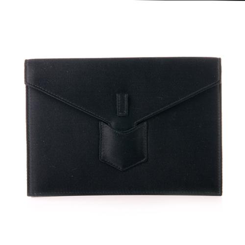 Yves Saint Laurent Clutch Satin Black