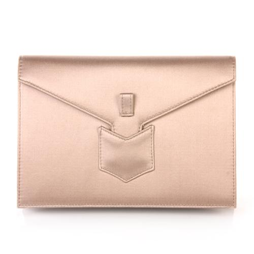 Yves Saint Laurent Clutch Satin Beige