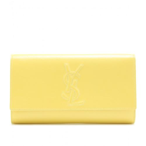 Yves Saint Laurent Belle De Jour Lederclutch Gelb/Orange/Rot