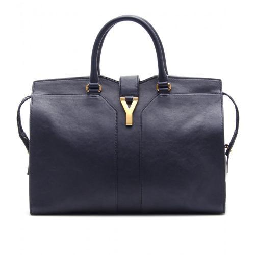 Yves Saint Laurent Handtasche Large East/West Leder Blau