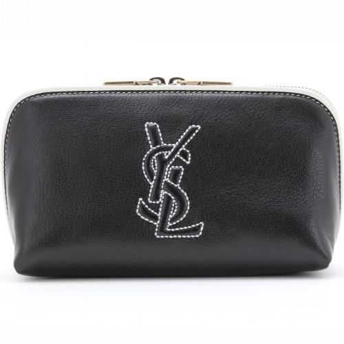 yves saint laurent logo lederetui schwarz designer handtaschen paradies it bags burberry. Black Bedroom Furniture Sets. Home Design Ideas
