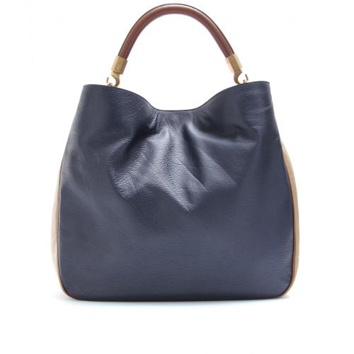Yves Saint Laurent Roady Ledertasche Blau