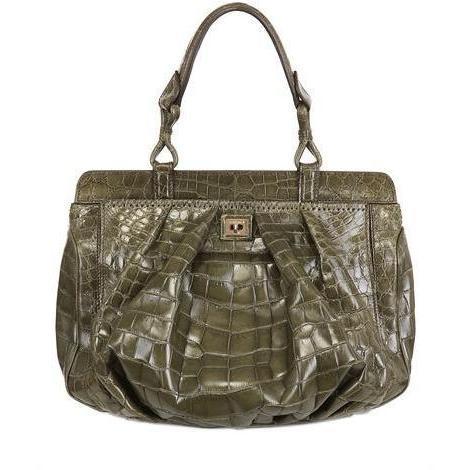 Zagliani - Krokodil Minerva Medium Handtasche