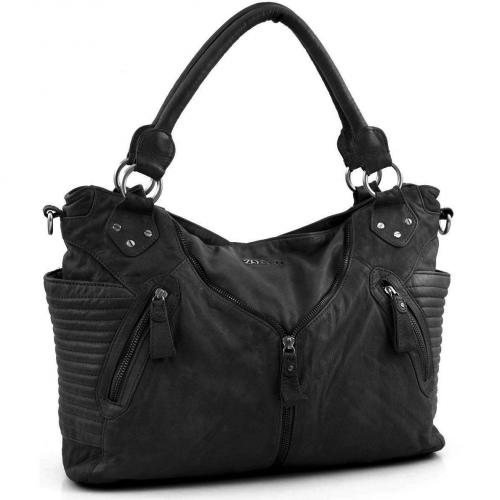 Zoé Lu Falling for you Shopper Leder schwarz