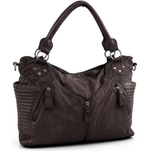 Zoé Lu Falling for you Shopper Leder braun