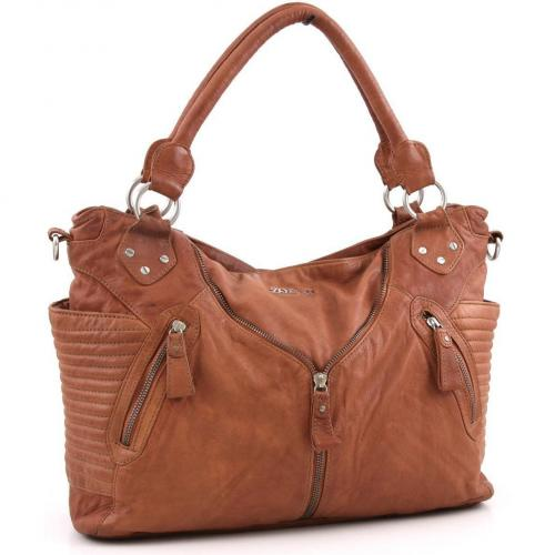 Zoé Lu Falling for you Shopper Leder cognac