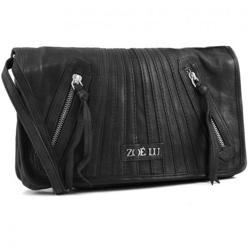 Zoé Lu Rock the nights Schultertasche Leder schwarz