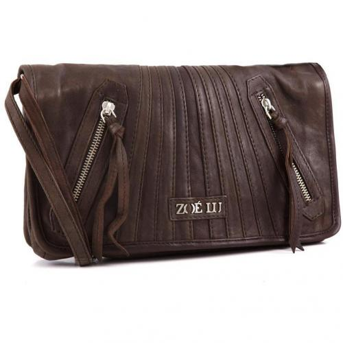 Zoé Lu Rock the nights Schultertasche Leder braun